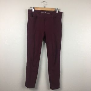 Old Navy Maroon Pixie Pants 10